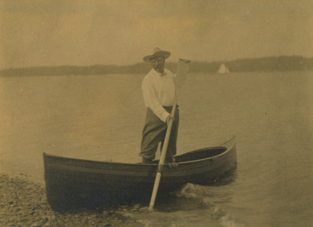 Roosevelt in a Boat