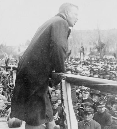 Roosevelt Giving Speech at Grand Island