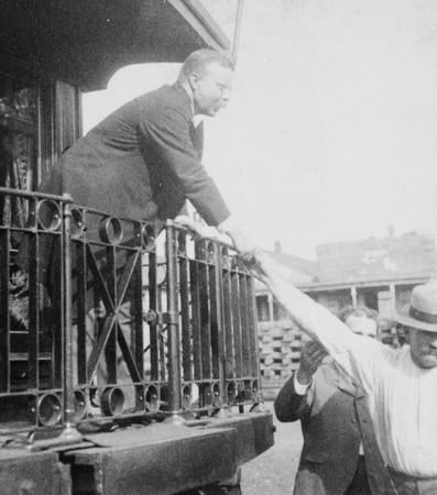 Theodore Roosevelt Shaking Hands