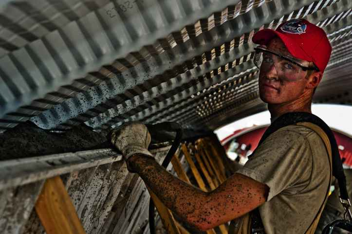 man construction working hat